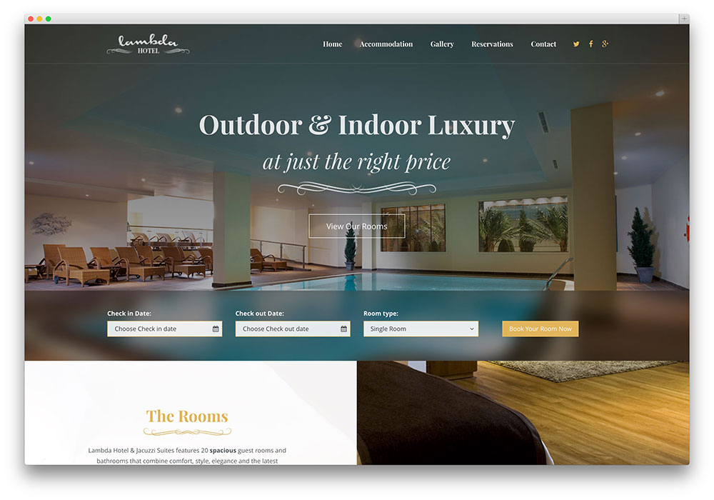 Hotel website developers in kerala for Hotel booking design